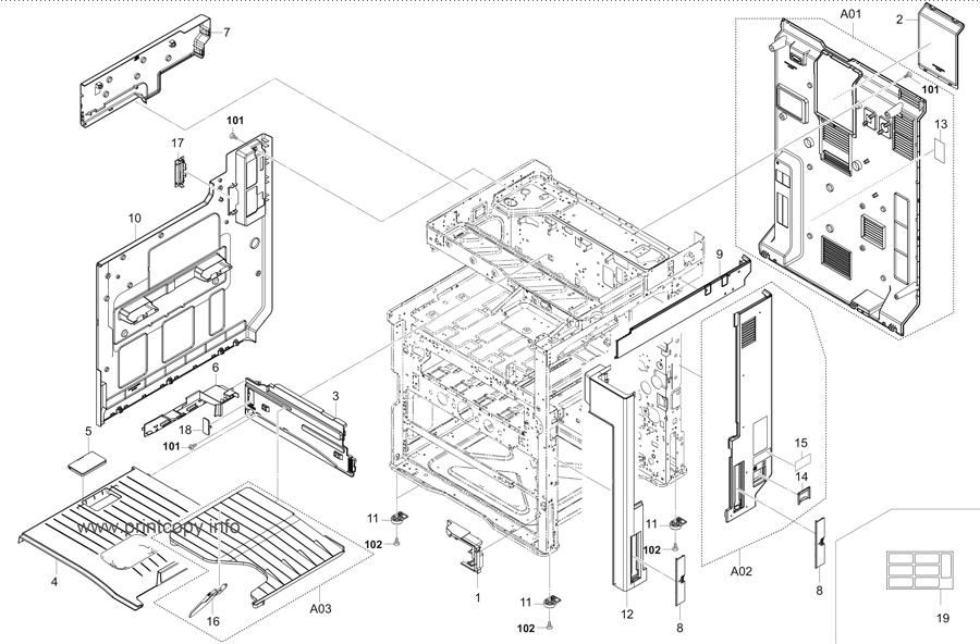 Parts Catalog > Kyocera > TASKalfa 2551ci > page 1