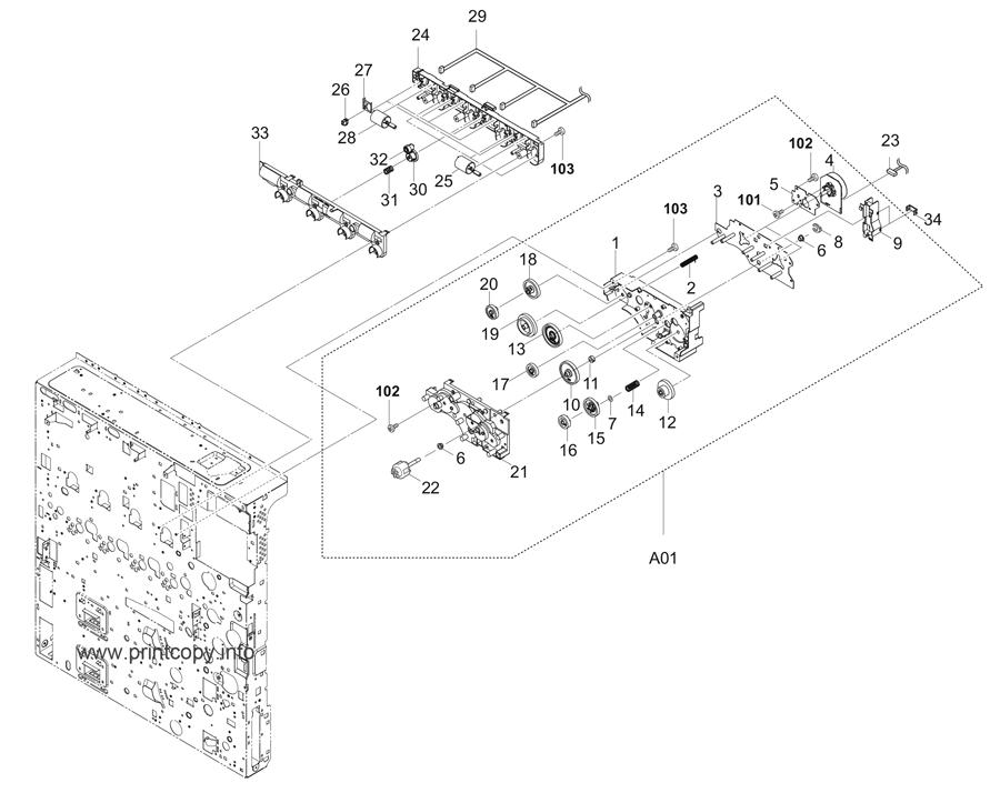 Parts Catalog > Kyocera > TASKalfa 2551ci > page 29