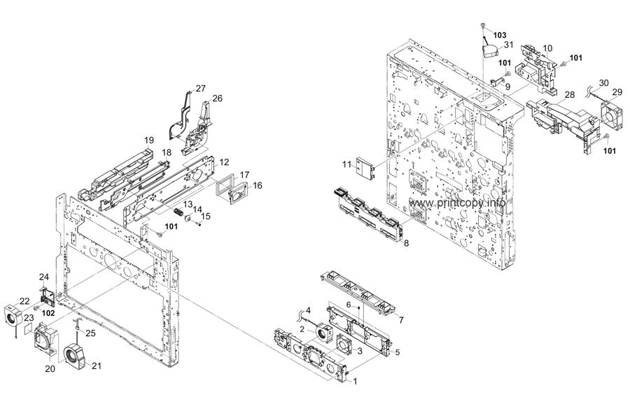 Parts Catalog > Kyocera > TASKalfa 2551ci > page 30