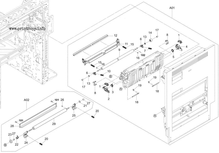 Parts Catalog > Kyocera > TASKalfa 2553ci > page 18