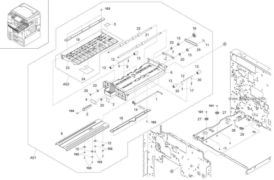 Parts Catalog > Kyocera > TASKalfa 300i > page 7