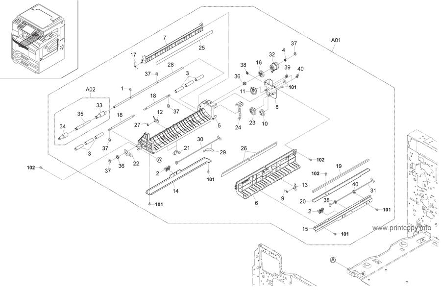 Parts Catalog > Kyocera > TASKalfa 300i > page 8