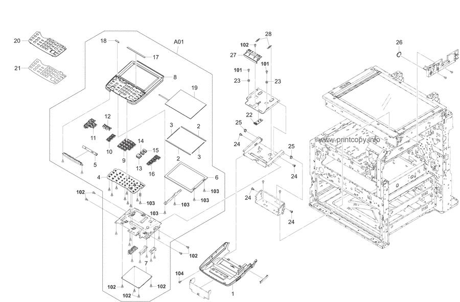 Parts Catalog > Kyocera > TASKalfa 4550ci > page 23