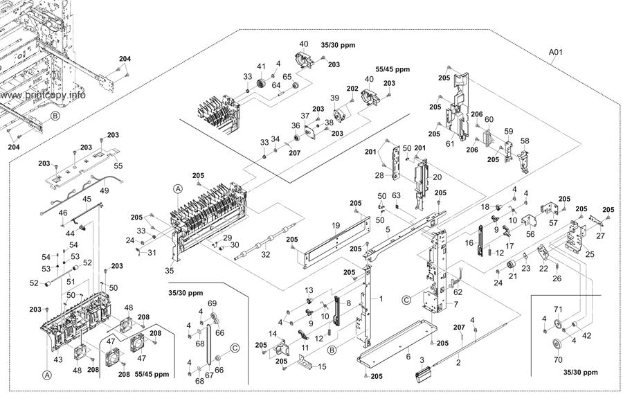 Parts Catalog > Kyocera > TASKalfa 4551ci > page 9