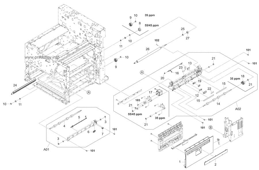 Parts Catalog > Kyocera > TASKalfa 3500i > page 7