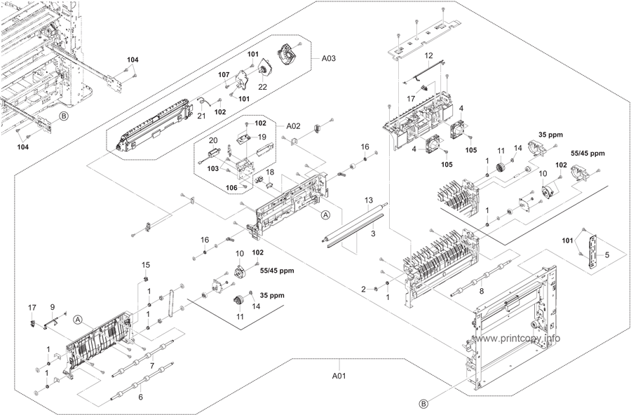 Parts Catalog > Kyocera > TASKalfa 4500i > page 8