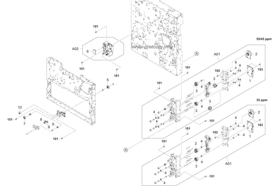 Parts Catalog > Kyocera > TASKalfa 4500i > page 16