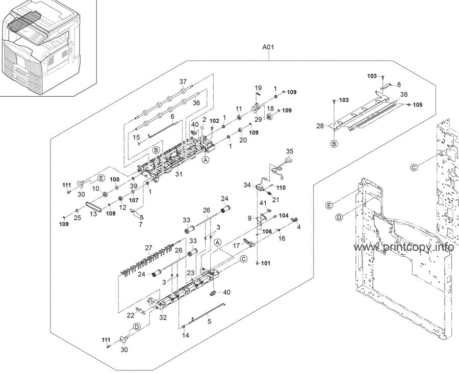 Parts Catalog > Kyocera > TASKalfa 420i > page 8