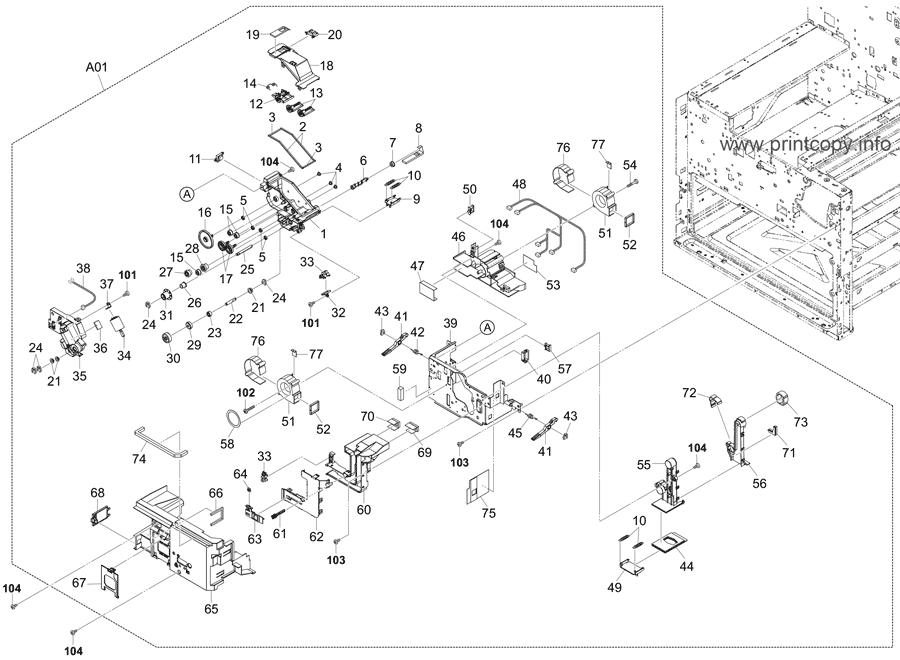 Parts Catalog > Kyocera > TASKalfa 6501i > page 23