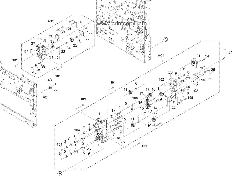 Parts Catalog > Kyocera > TASKalfa 6501i > page 27
