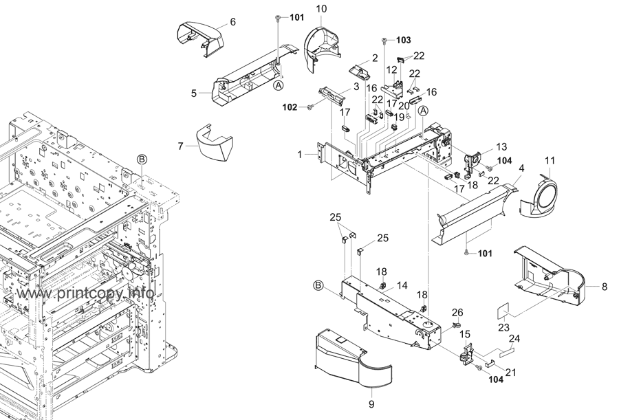 Parts Catalog > Kyocera > TASKalfa 6551ci > page 38