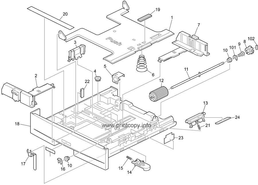 Parts Catalog > Ricoh > Aficio 1515MF > page 6