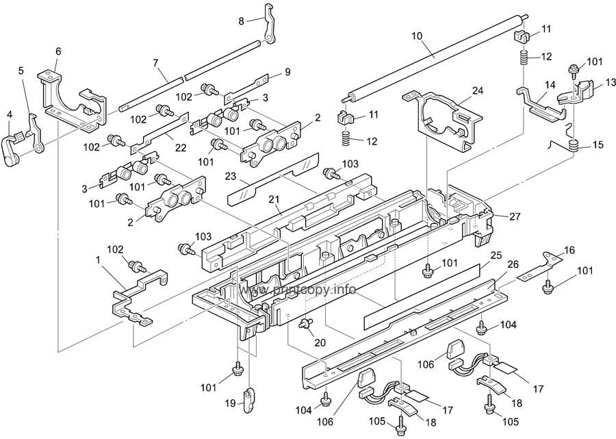 Parts Catalog > Ricoh > Aficio 2027 > page 17