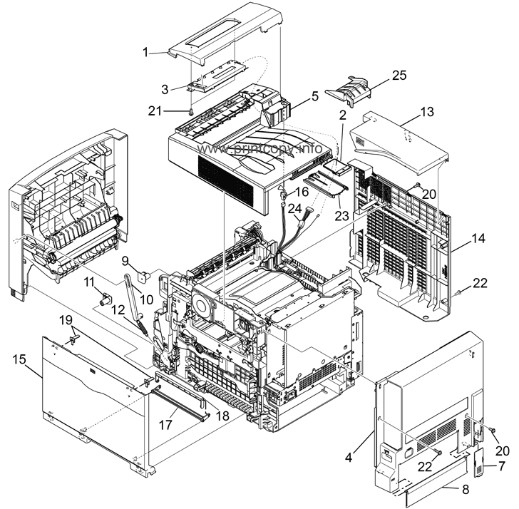 Parts Catalog > Ricoh > Aficio CL2000 > page 1