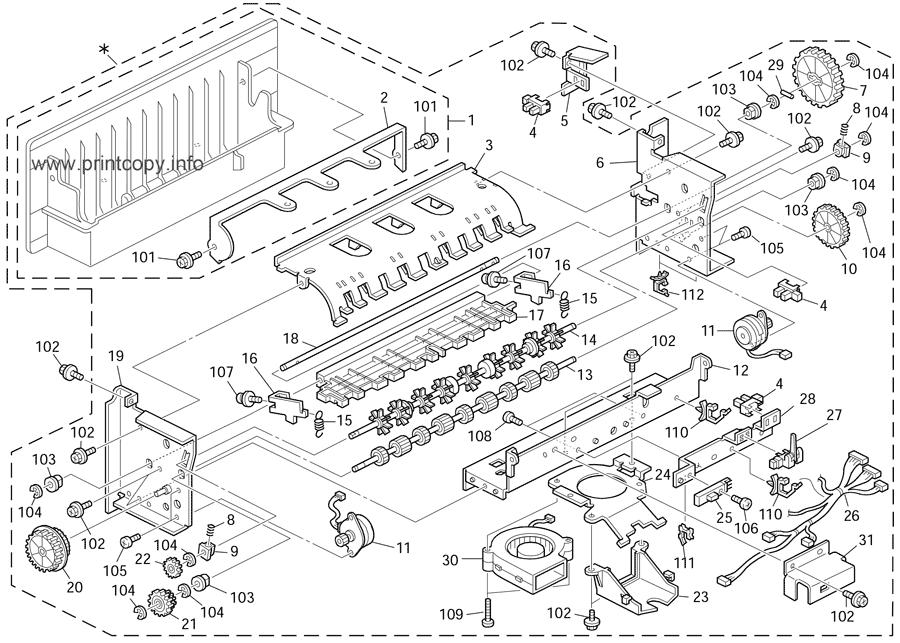 Parts Catalog > Ricoh > C274-72 DX2430 > page 15