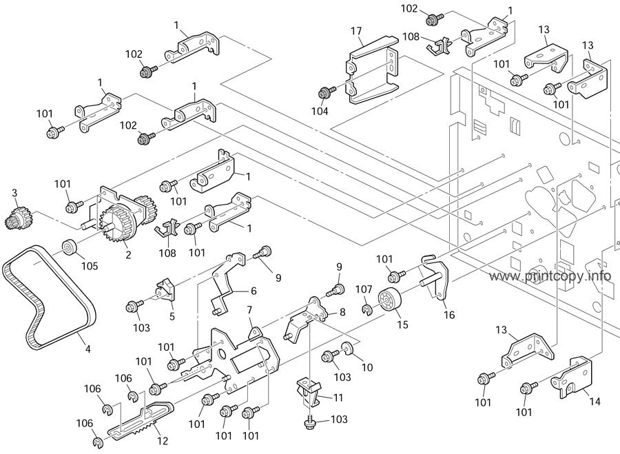 Parts Catalog > Ricoh > DX2430 > page 17