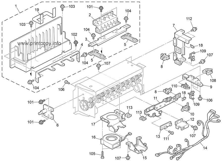 Parts Catalog > Ricoh > C267 DX3340 Platinum > page 19