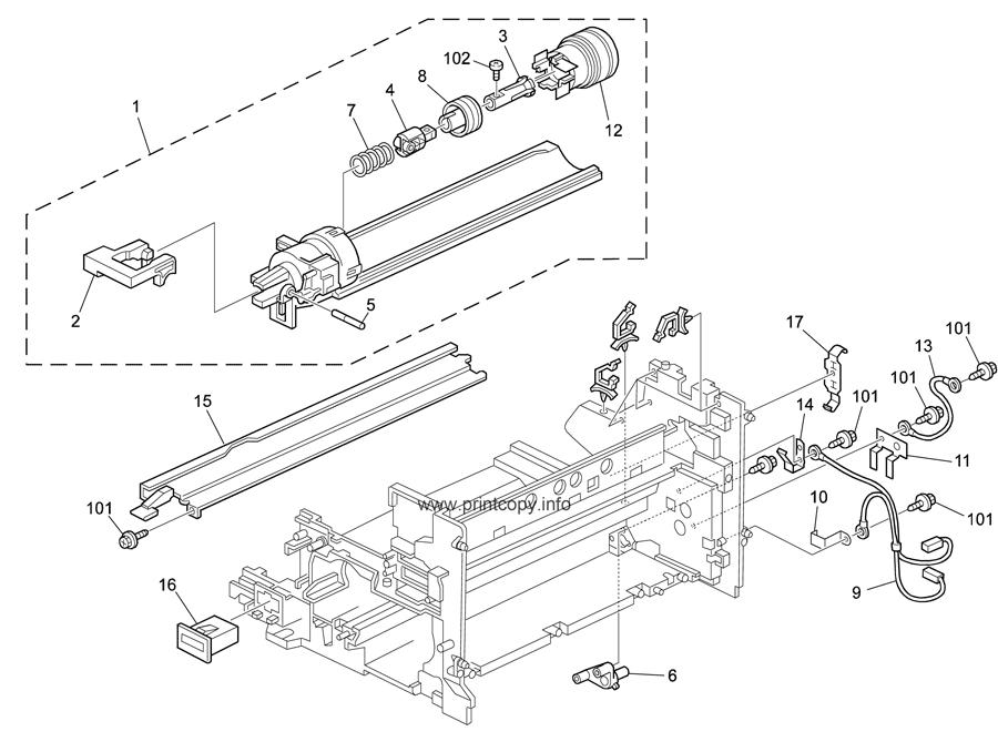 Parts Catalog > Ricoh > Aficio MP2000 > page 16