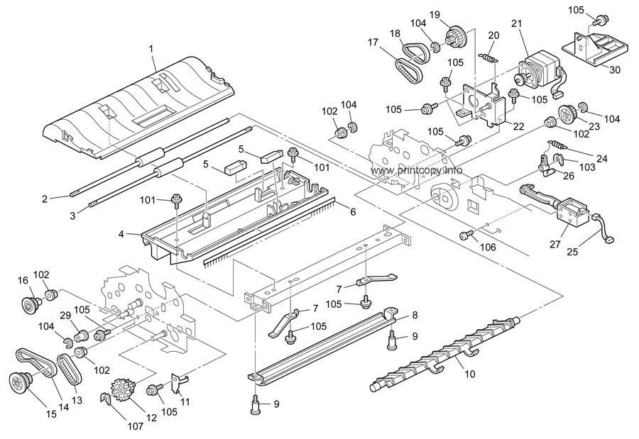Parts Catalog > Ricoh > MP161SPF > page 10