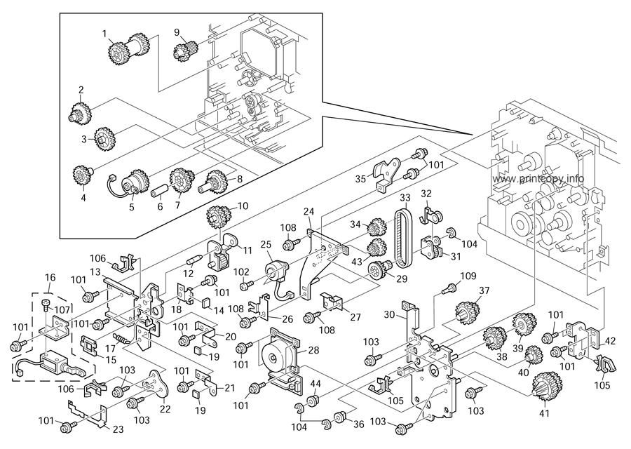 Parts Catalog > Ricoh > D067 MP171 > page 18