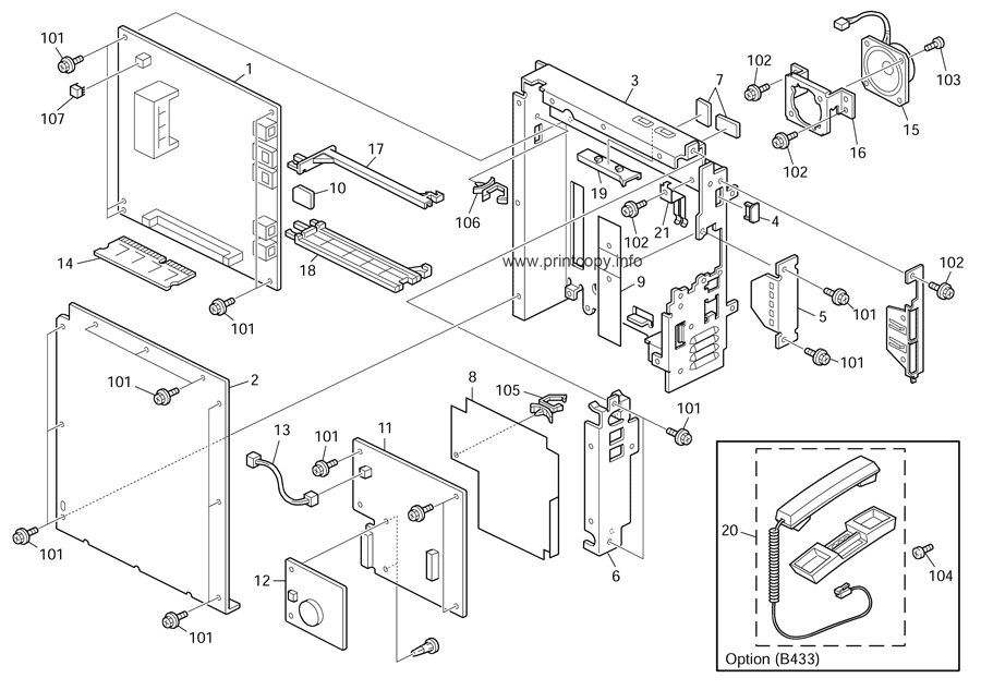 Parts Catalog > Ricoh > MP171 > page 21