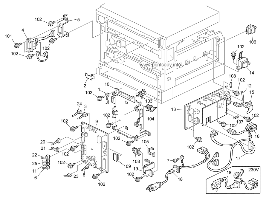 Parts Catalog > Ricoh > MP1900 > page 18