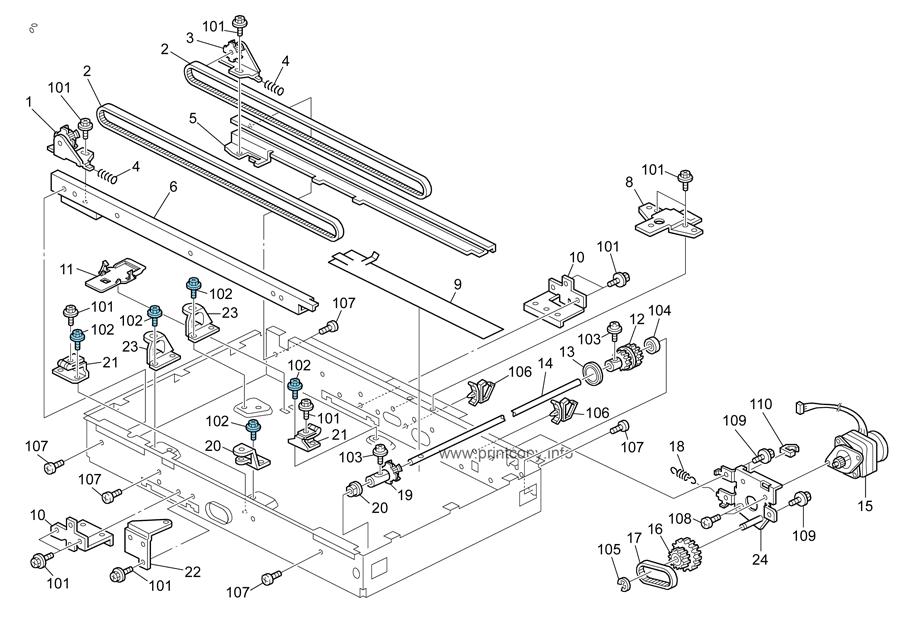Parts Catalog > Ricoh > MP201SPF > page 14