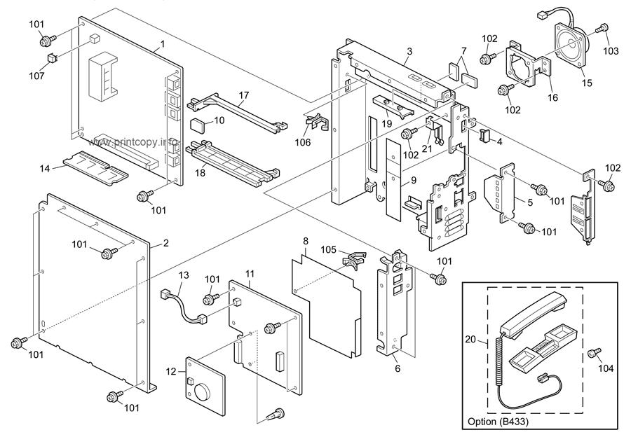 Parts Catalog > Ricoh > Aficio MP201SPF > page 21