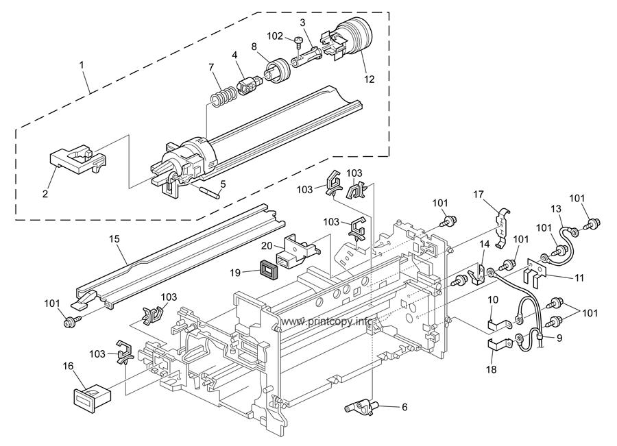 Parts Catalog > Ricoh > D010 MP2500 PR-C1 > page 17