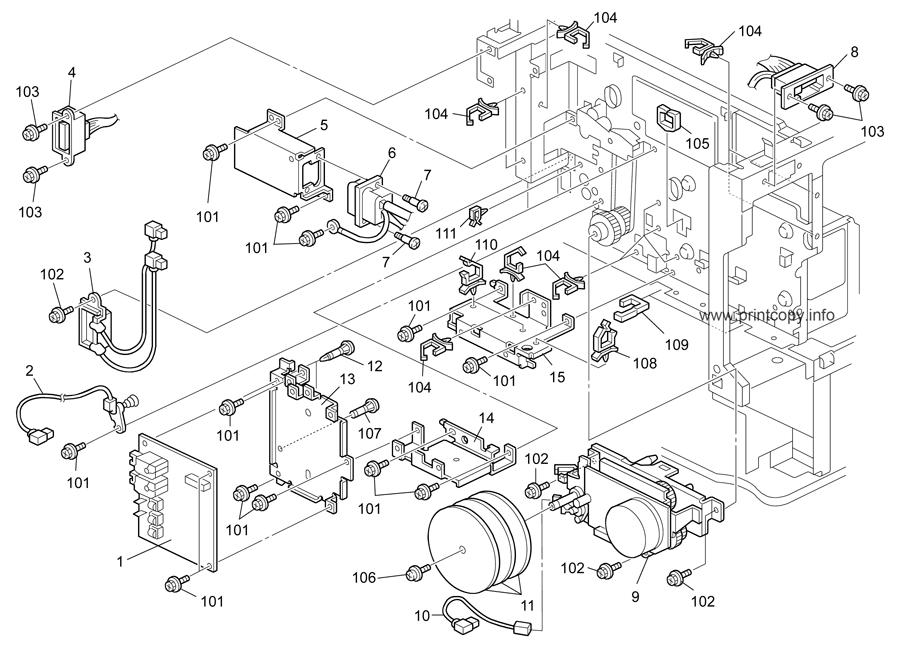 Parts Catalog > Ricoh > Aficio 3025 > page 23