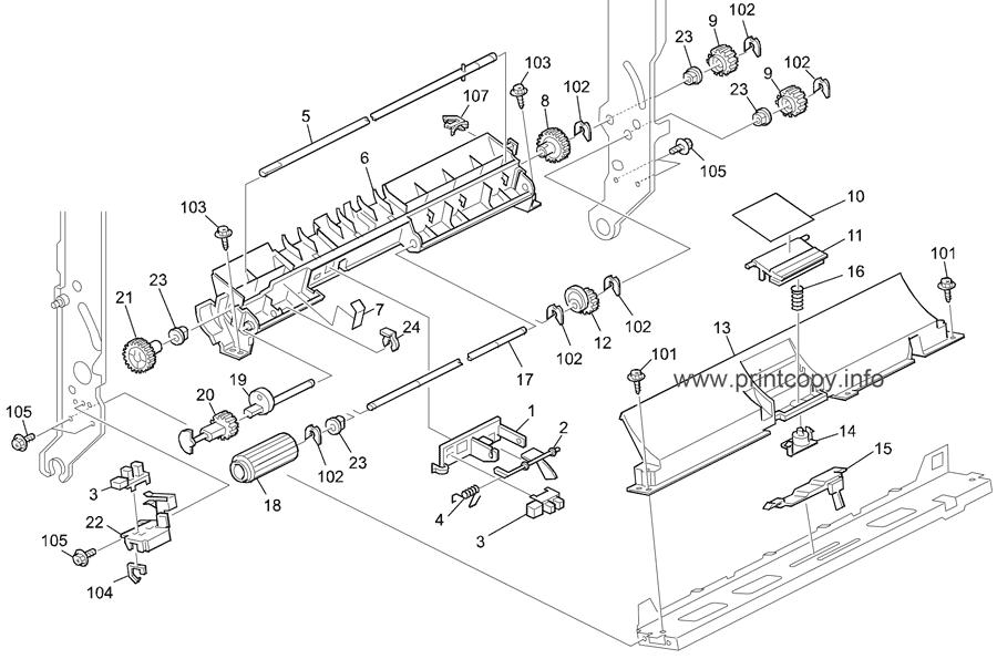 Manual feed roller ricoh AF031060 Printers, Scanners