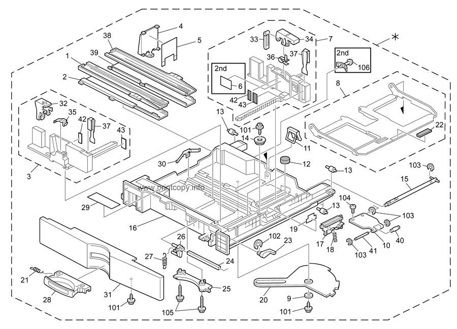 Parts Catalog > Ricoh > Aficio MP2851 > page 8