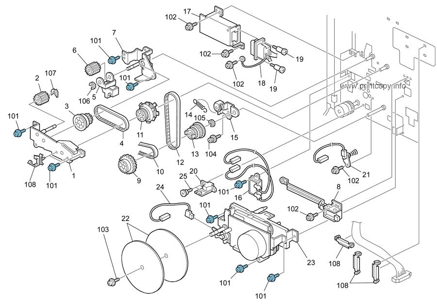 Parts Catalog > Ricoh > Aficio MP3351 > page 19