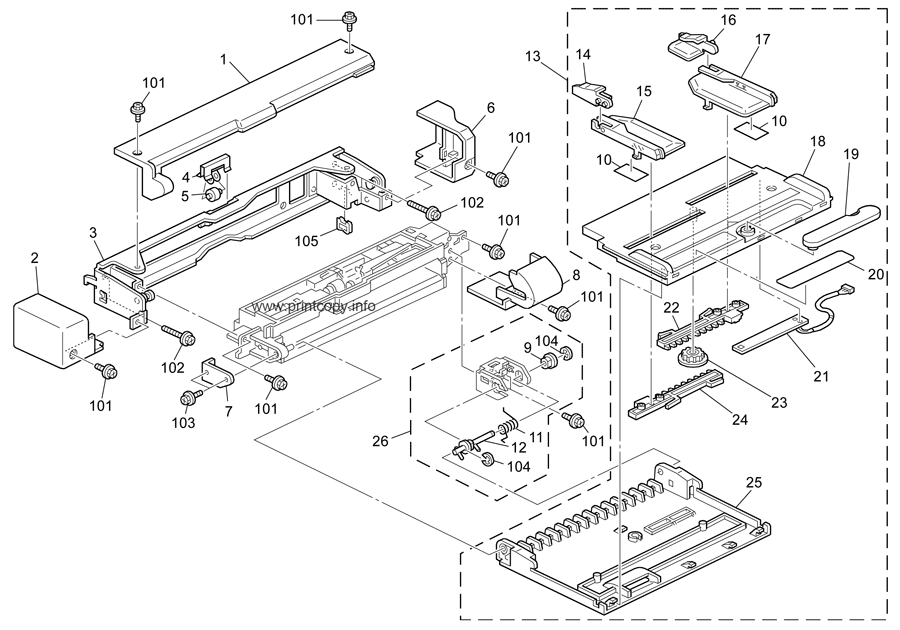 Parts Catalog > Ricoh > Aficio MP4500 > page 9