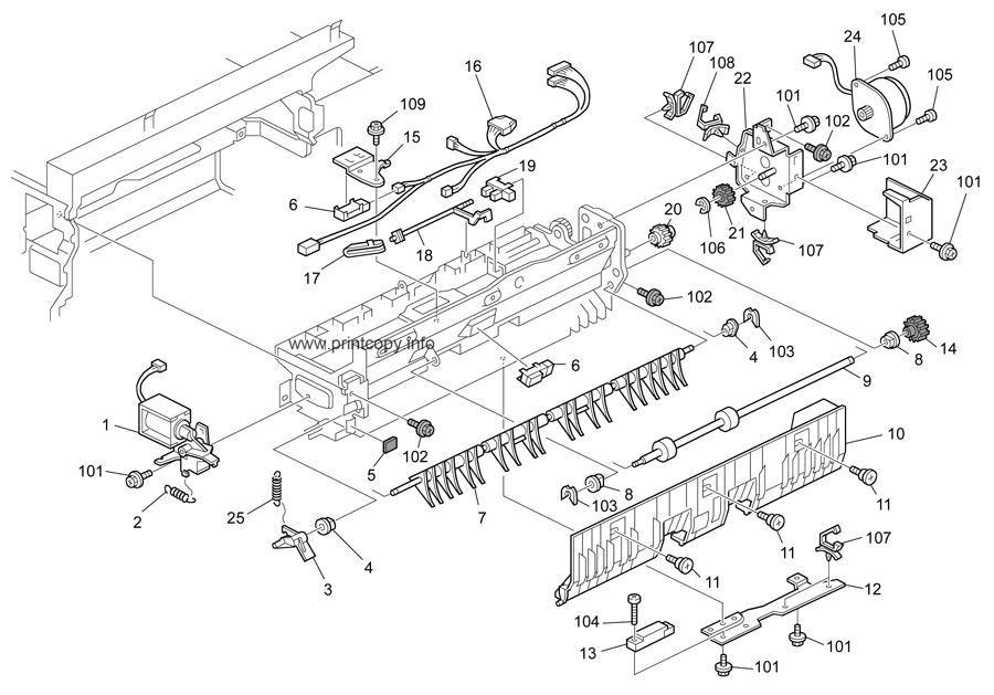Parts Catalog > Ricoh > Aficio MP4000 > page 38