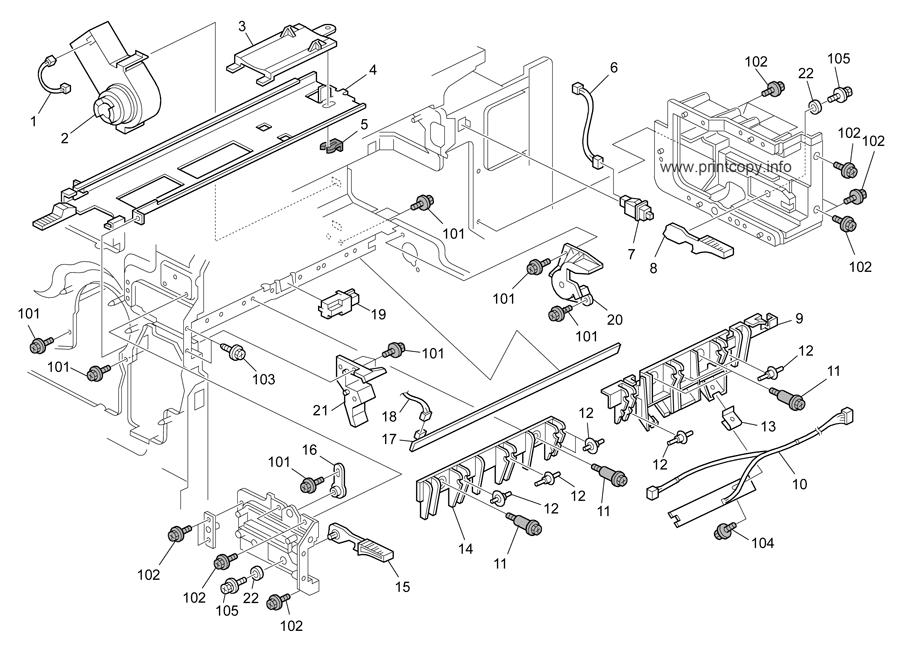Parts Catalog > Ricoh > Aficio MP4000 > page 44