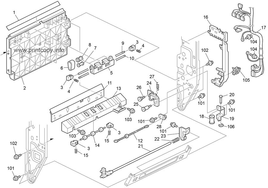 Parts Catalog > Ricoh > MP4002SP > page 38