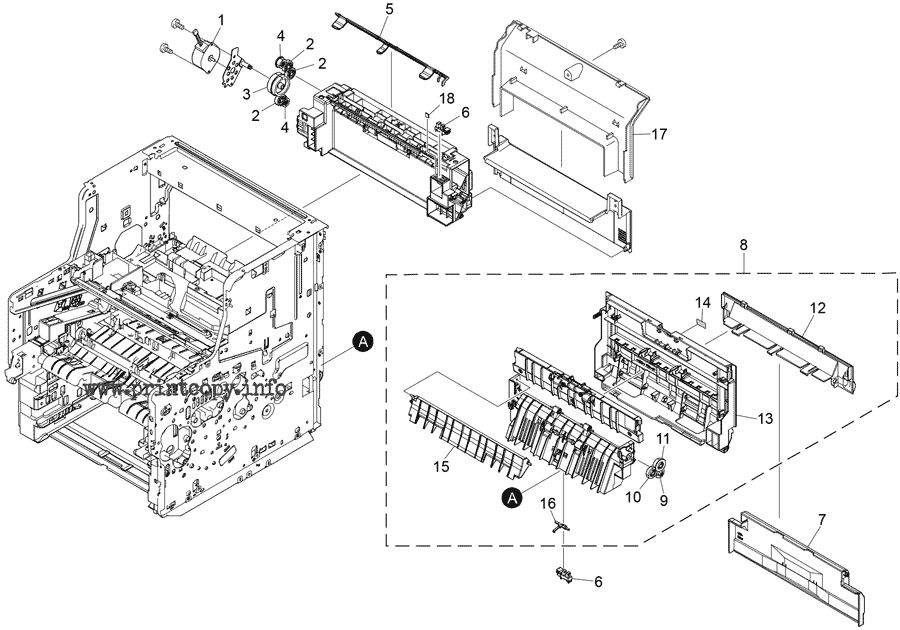 Parts Catalog > Ricoh > MP501SPF > page 8