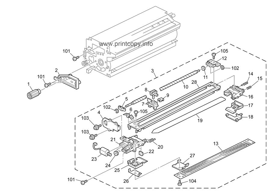 Parts Catalog > Ricoh > Aficio MP7500 > page 35