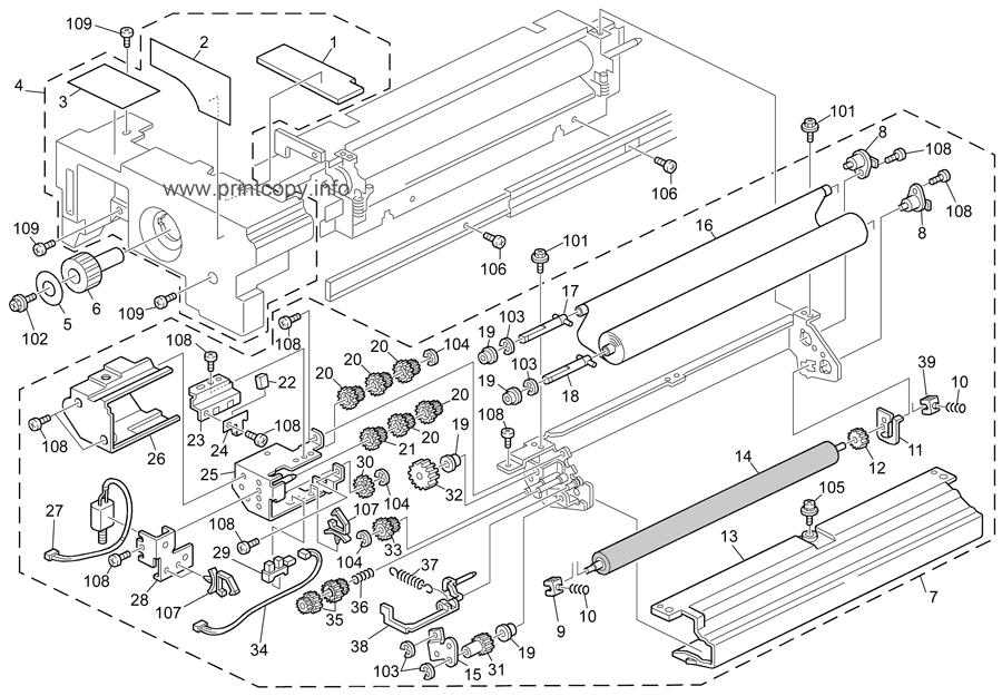 Parts Catalog > Ricoh > Aficio MP7500 > page 41