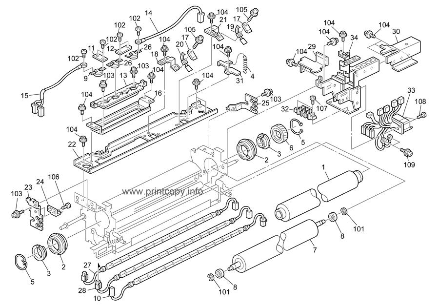Parts Catalog > Ricoh > Aficio MP7500 > page 43