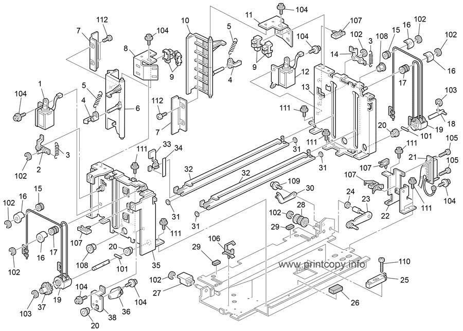 Parts Catalog > Ricoh > Aficio MP6002 > page 25