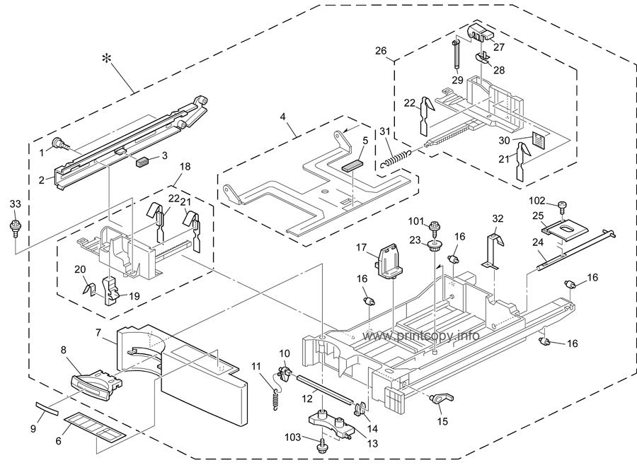 Parts Catalog > Ricoh > Aficio MPC3000 > page 9