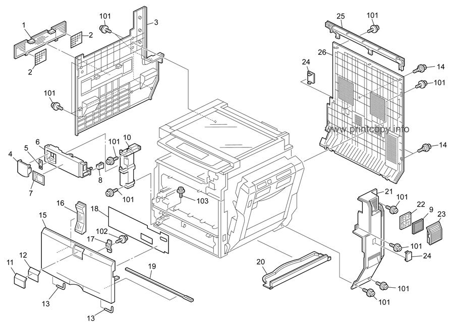 Parts Catalog > Ricoh > Aficio MPC4500 > page 1