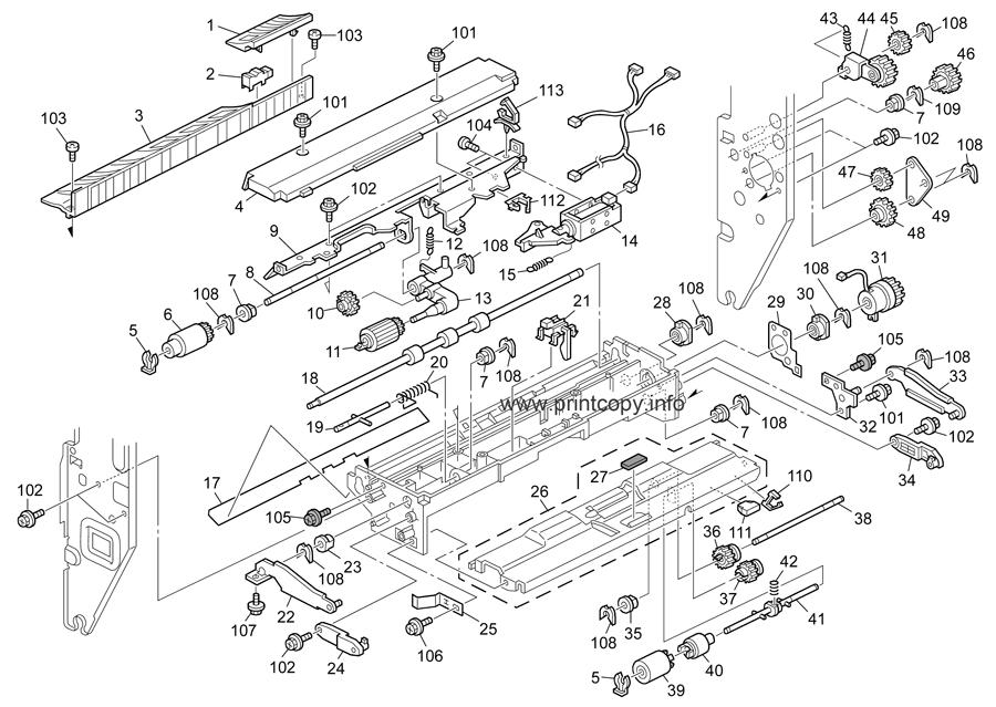 Parts Catalog > Ricoh > Aficio MPC4500 > page 25