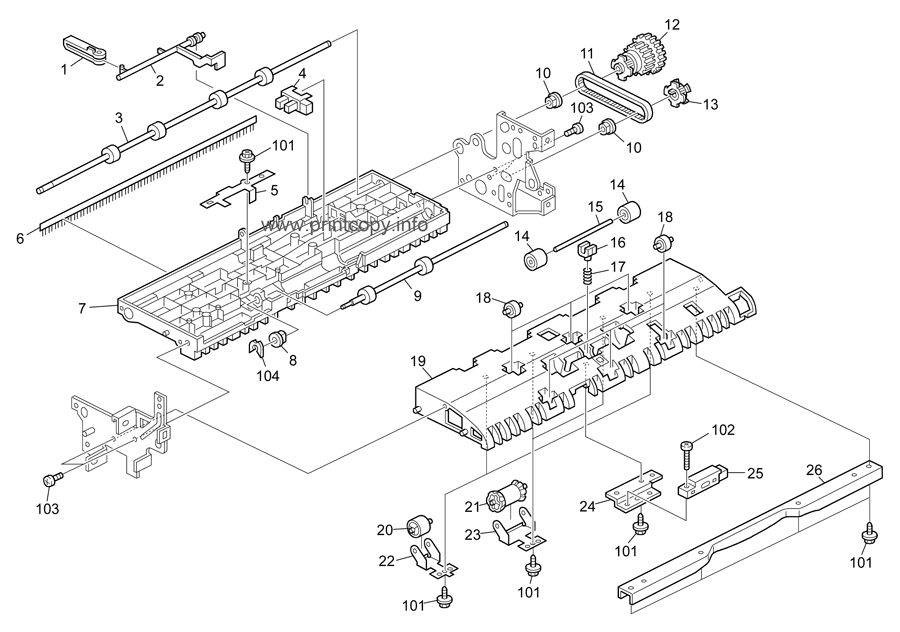 Parts Catalog > Ricoh > B224 MPC4500 AP-C1 > page 33