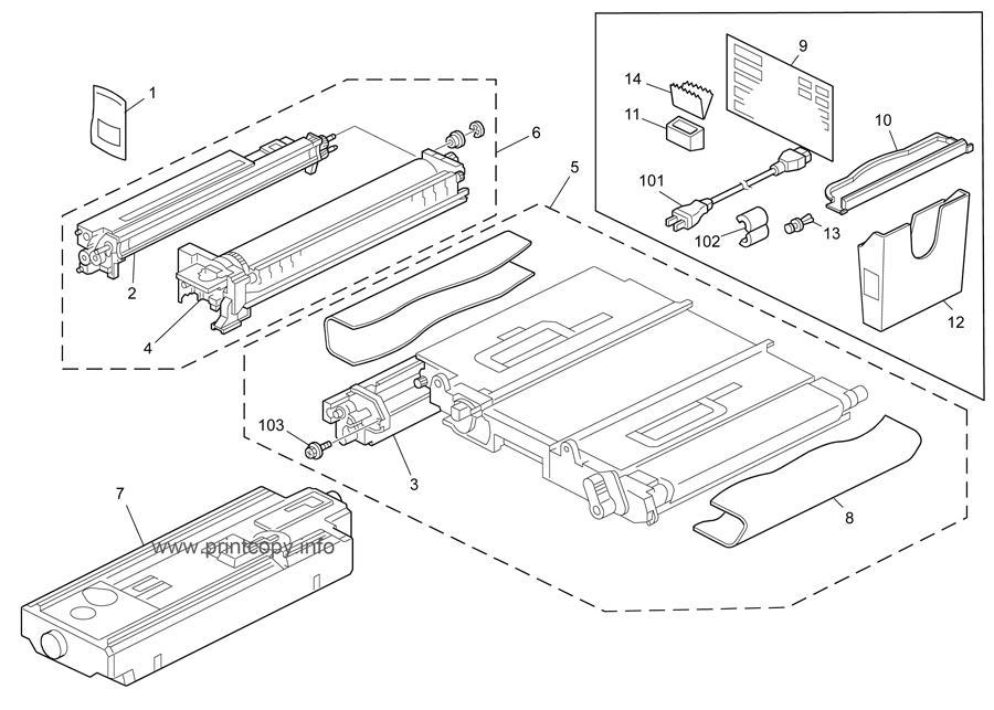 Parts Catalog > Ricoh > Aficio MPC4500 > page 53