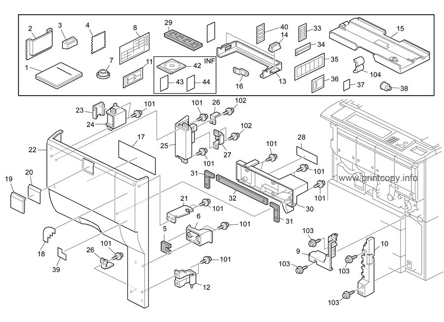 Parts Catalog > Ricoh > MPC7500SP > page 1