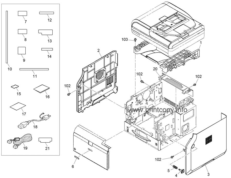 Parts Catalog > Ricoh > SP3610SF > page 1