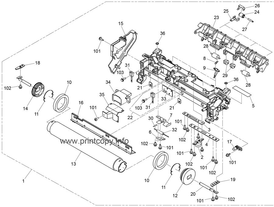 Parts Catalog > Ricoh > Aficio SP3600SF > page 14